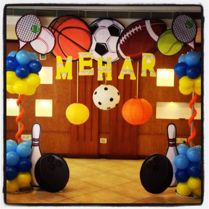 sports decorations - Google Search (With images)  Sports themed