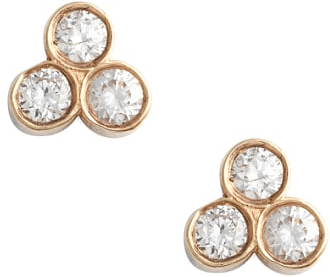31264b24c75e1 Women's Zoe Chicco Diamond Cluster Stud Earrings #earrings #jewelry ...