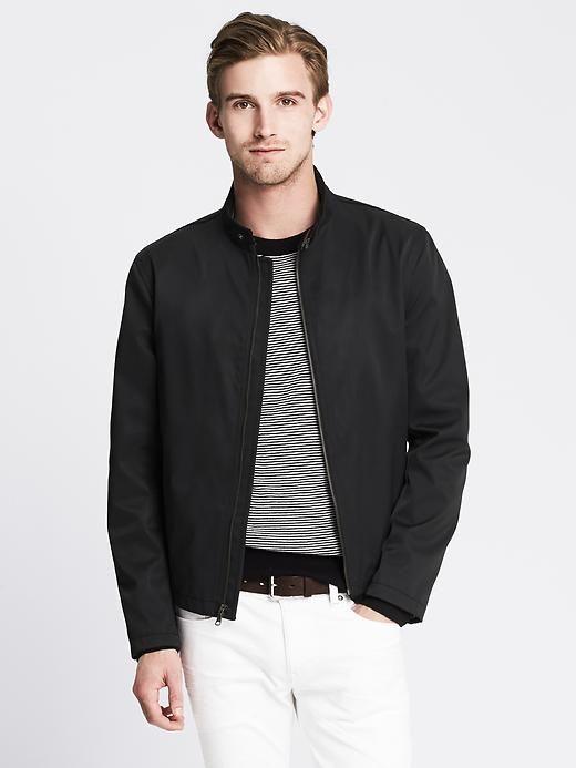 Banana republic black nylon jacket
