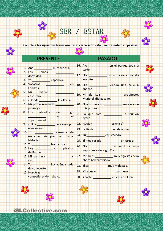 Free Ser, Estar, and Adjectives worksheets! | Printable Spanish ...