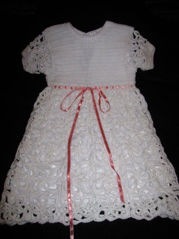 e229044e6c dziecko   szydełko   sukienka dla dziewczynki   Beautiful dress Łatwe  Szydełkowanie