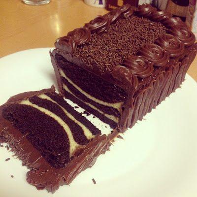 Kek Coklat Lapis Cheese Kukus/ Choc Moist cake kukus | I ...