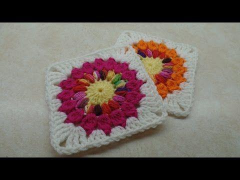 Crochet How To Crochet Sunflower Granny Square 10 Tutorial 326
