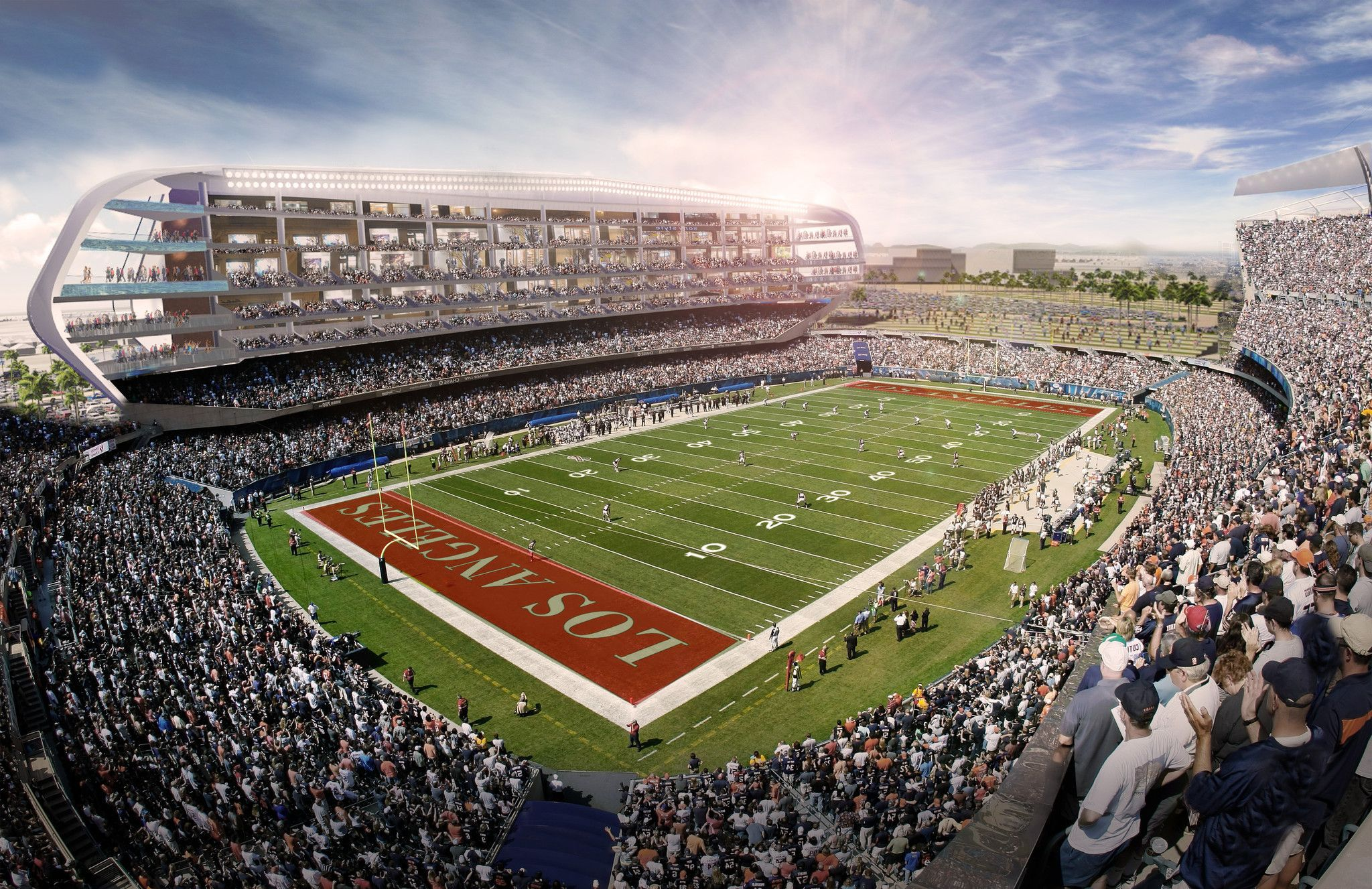 Chargers Raiders Will Jointly Pursue An Nfl Stadium In Carson Nfl Stadiums Stadium Nfl Football Stadium