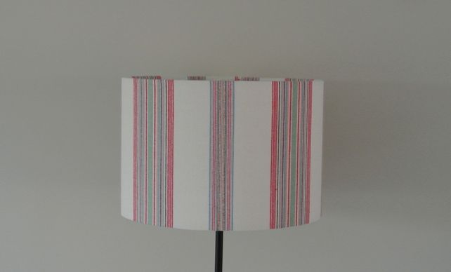 Annie plumb interiors 30cm handmade lampshade multi coloured stripy find this item at