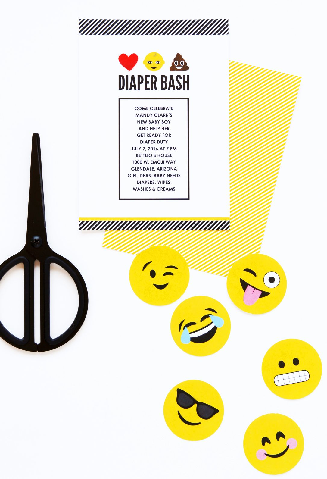 LOL! I love this Diaper Bash Emoji Baby Shower inspired by the \