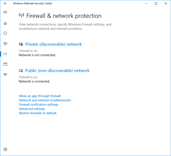 Windows Firewall is preventing or blocking connections to