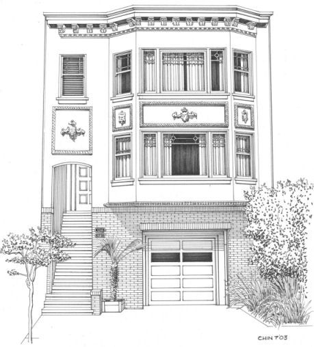 make an architecture elevation of 7 Otsego for display