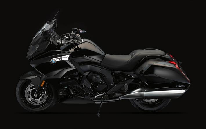 Lataa kuva BMW K 1600 B Bagger, 4k, 2018 polkupyörää, darkess, saksalainen moottoripyörien, BMW