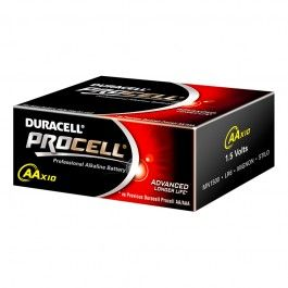 Duracell Procell Aa Lr6 Mn1500 Professional Alkaline Batteries Box Of 10 Duracell Alkaline Battery Alkaline