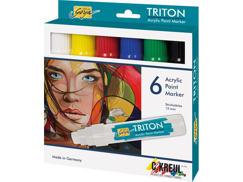 Triton Acrylic Paint Marker Acrylmalerei Solo Goya Produkte