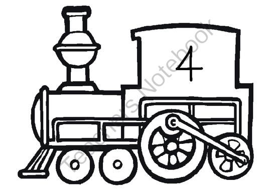 Vector Choo Choo Train Outline Stock Vector Kids Graphics Clip Art