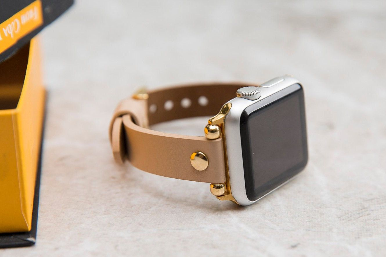 Tan Apple Watch Band 38mm 40mm 42mm 44mm For Apple Watch Etsy Apple Watch Bands 38mm Apple Watch Band Apple Watch Bands Leather