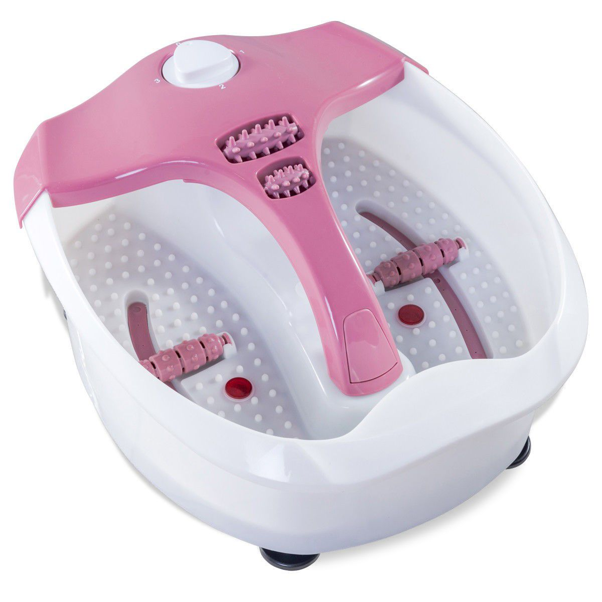 Portable Bubble Heat HF Vibration Foot Spa Massager
