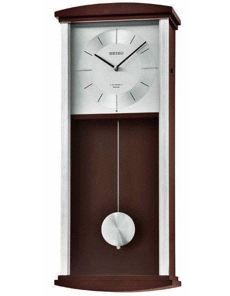 Seiko Contemporary Pendulum Wall Clock Dark Brown Case 12 Hi Fi Melodies In 2020 Pendulum Wall Clock Contemporary Wall Clock Wall Clock