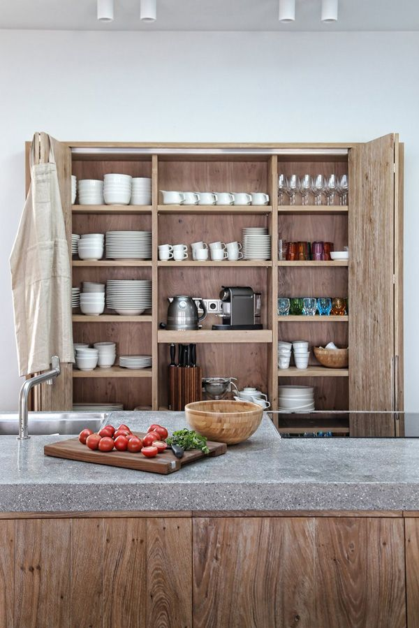 Muebles columna en madera para almacenamiento de cocina | Kitchen ...