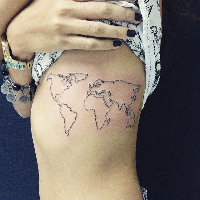 tattoo na lama tattoonalama mapa mundi tattoo line line ink map massa tattoos. Black Bedroom Furniture Sets. Home Design Ideas