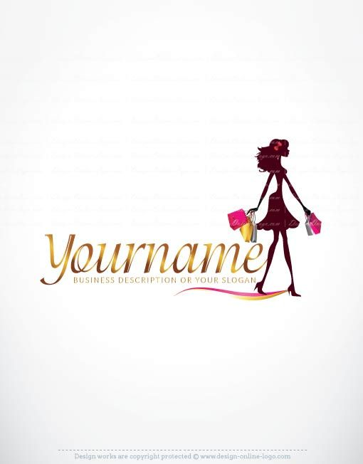 Woman Shopping Logo Design Free Business Cards Free Business Card Design Logo Design Free Shop Logo Design