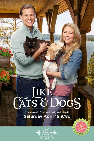 A Reservation Goes Awry When Two Renters One With A Dog And One With A Cat Must Share A House Hallmark Movies Christmas Movies On Tv Dog Movies