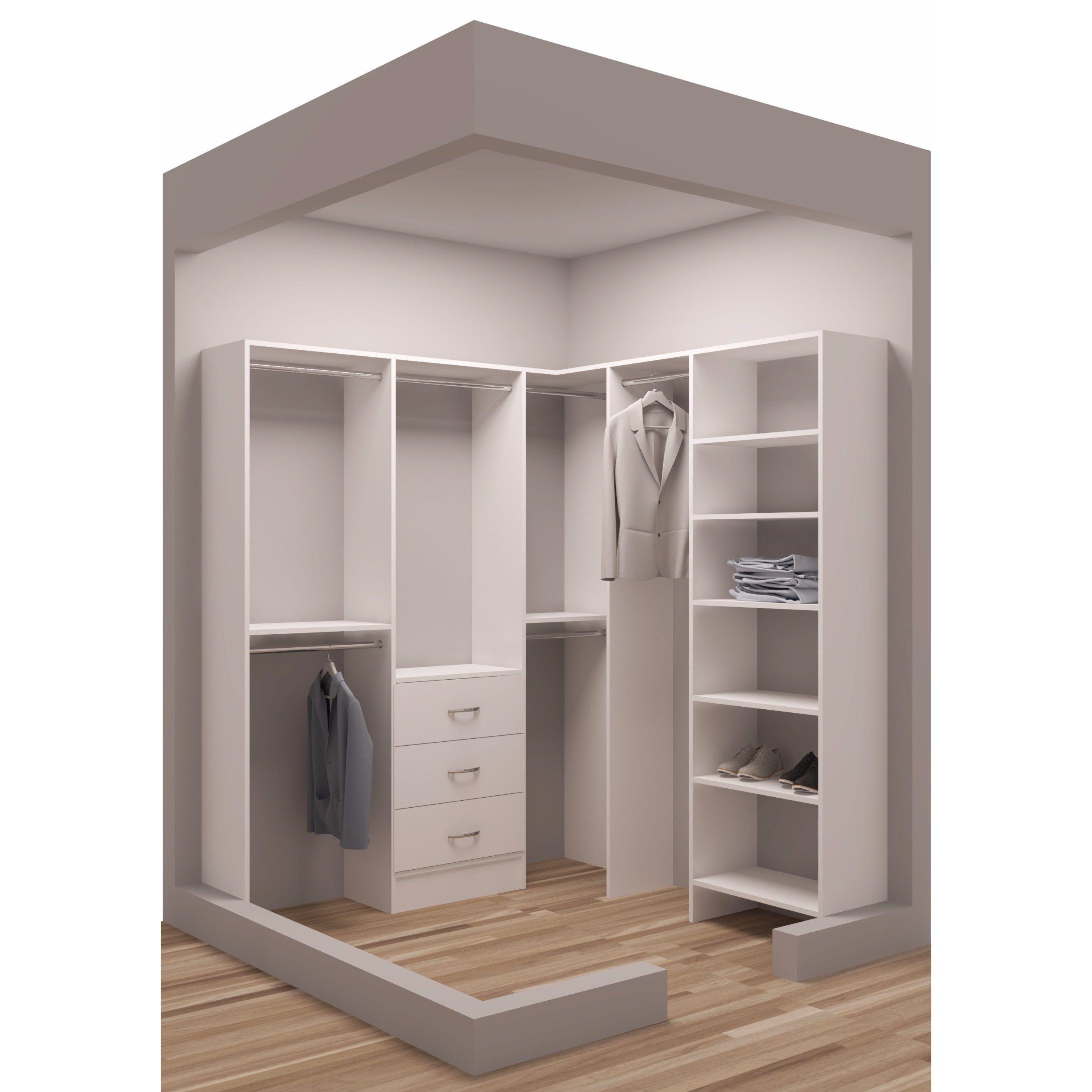 Tidysquares White Wood 75 X 72 25 Walk In Closet System White