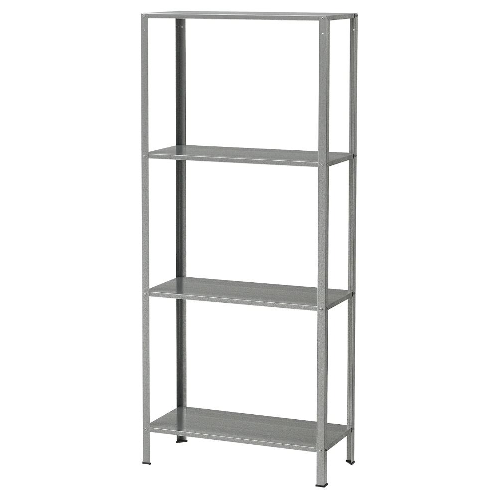 Hyllis Shelving Unit In Outdoor Galvanised 60x27x140 Cm In 2020 Ikea Shelves Ikea Shelves