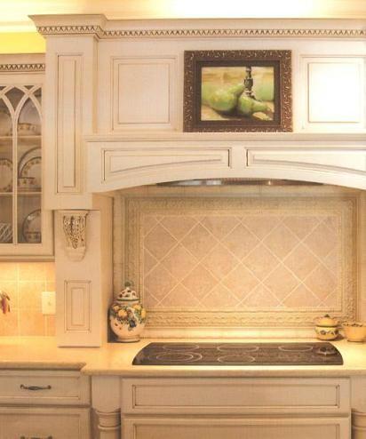 Custom range hood and RTA kitchen cabinets assembled from Conestoga ...