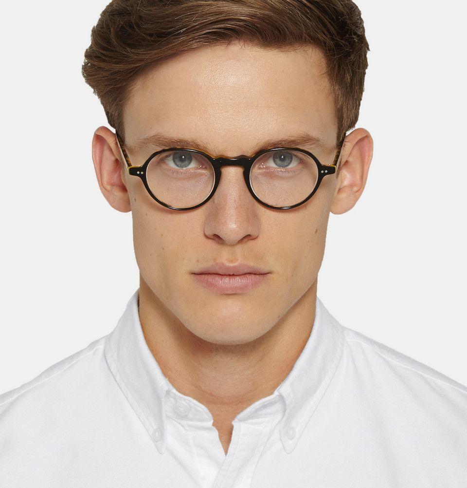 432876c9a03 Garrett Leight California Optical - Coeur D Alene Round-Frame Acetate Optical  Glasses