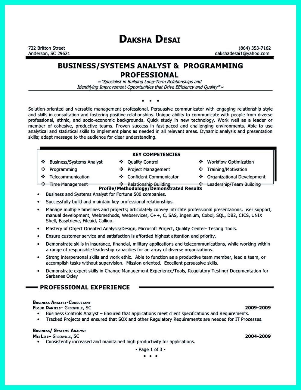 sql analyst resume sample