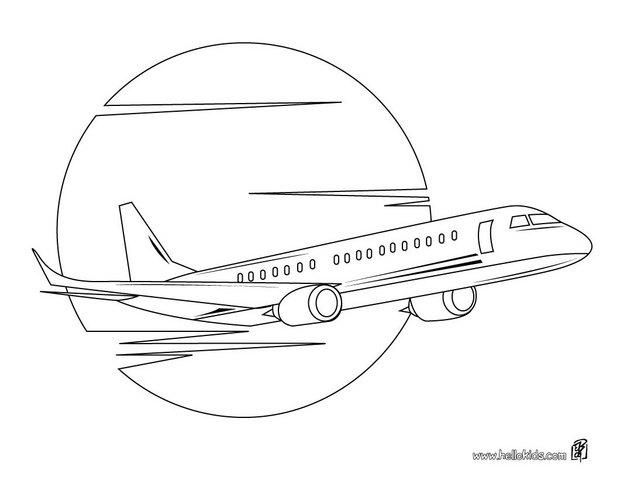 Airliner coloring page. Wonderful for your plane-mad child