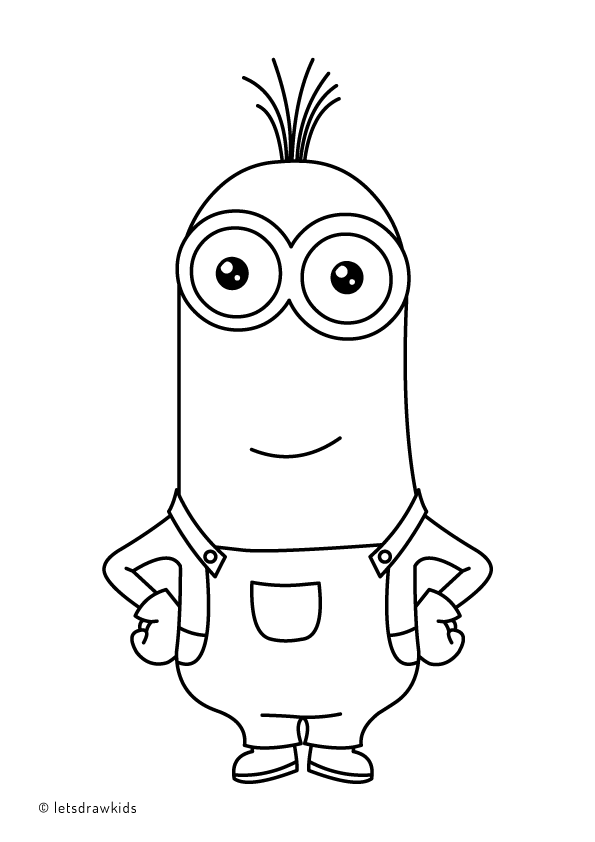 Coloring Page For Kids Minion Kevin Minion Coloring Pages Cute Coloring Pages Coloring Pages