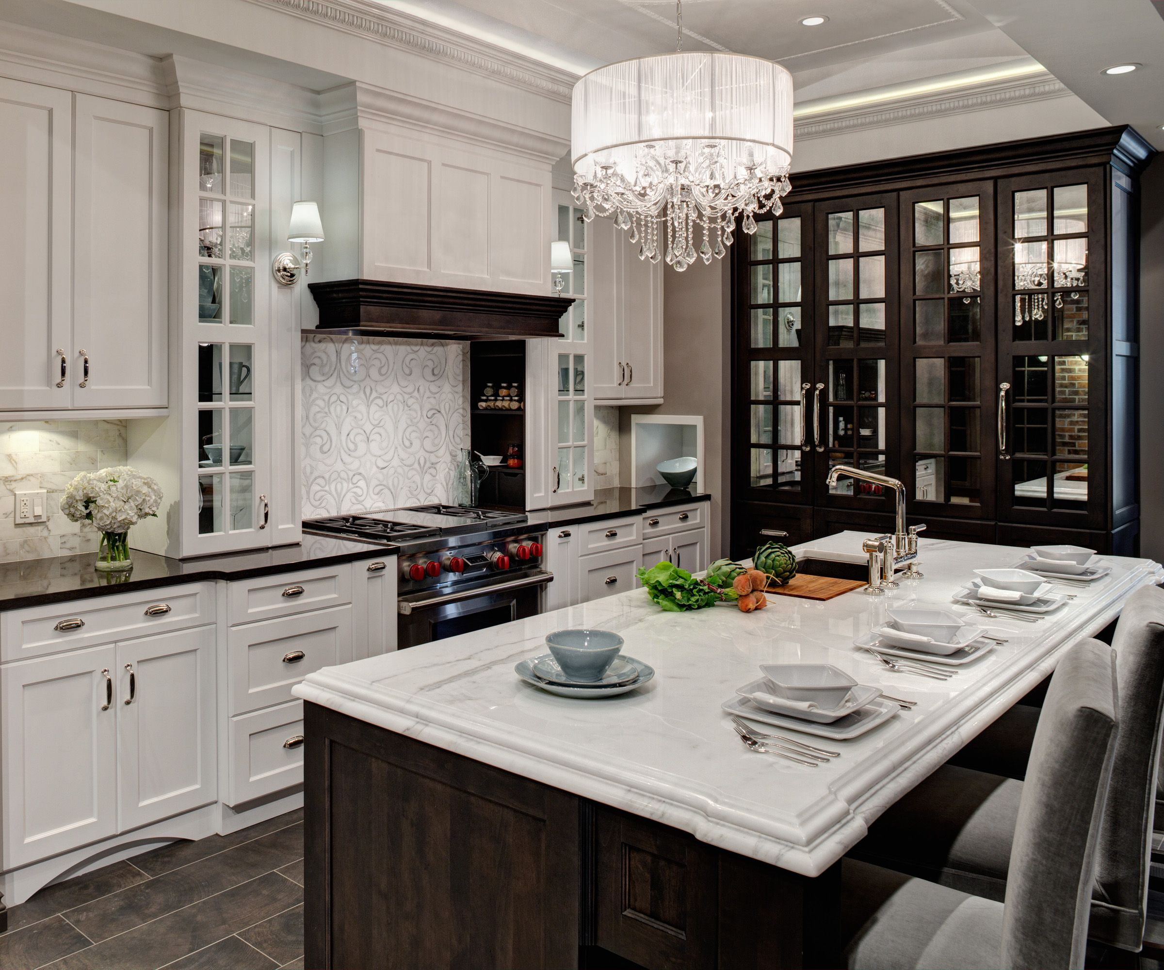 Kitchen Designer Chicago Glamorous Lincolnwood Design Showroom Kitchen Display  Kitchen Islands Inspiration Design