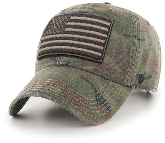 a07e19b8b41 Operation Hat Trick Movement Camo Sandalwood 47 Brand Adjustable USA Flag  Hat