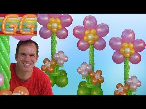 Como Hacer Una Columna De Flores Con Globos Decoracion Con Globos - Como-hacer-flores-de-globos