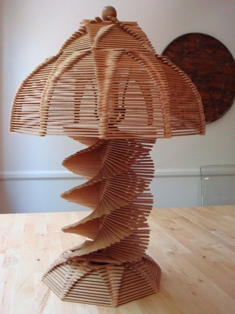lamps Made with Popsicle Sticks | Add it to your favorites to ...