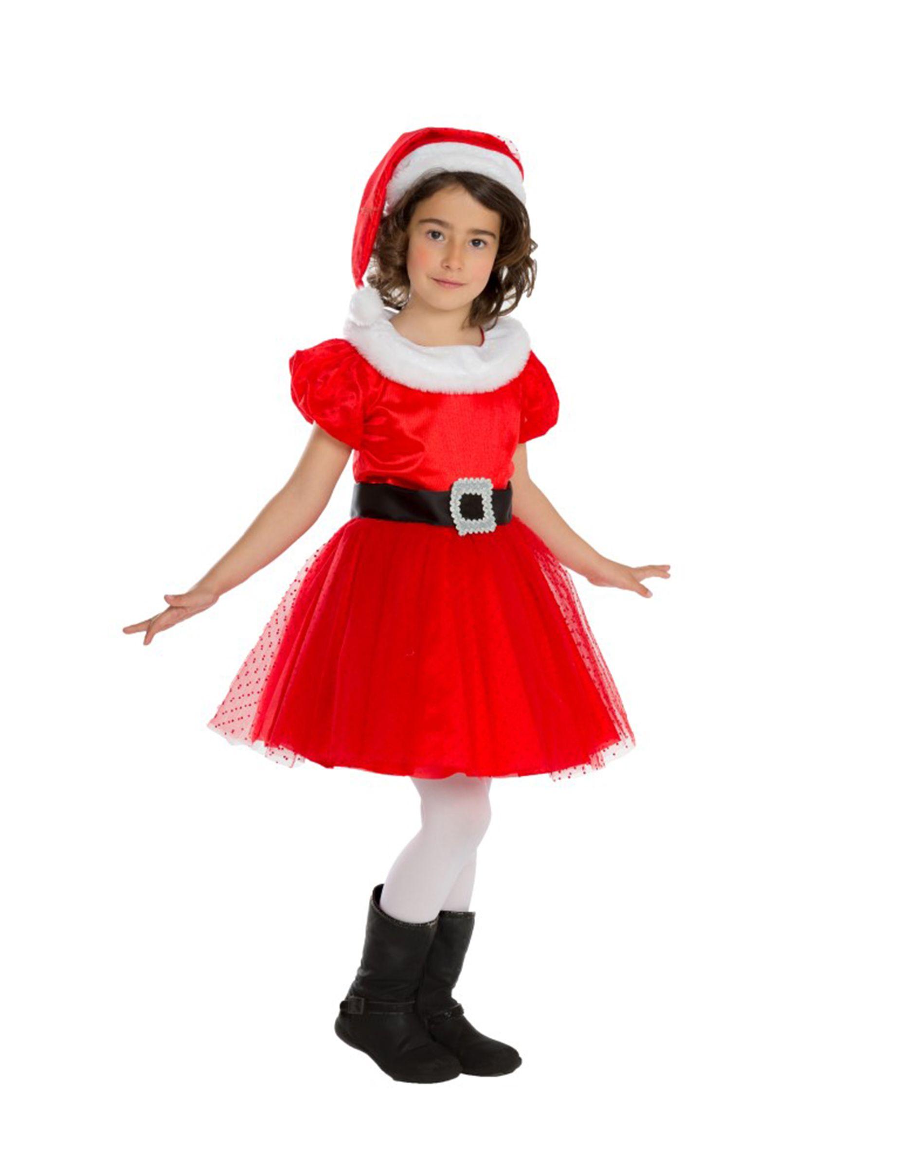 e139c53b5 Disfarce Mãe Natal menina - Premium Roupas De Natal Infantil