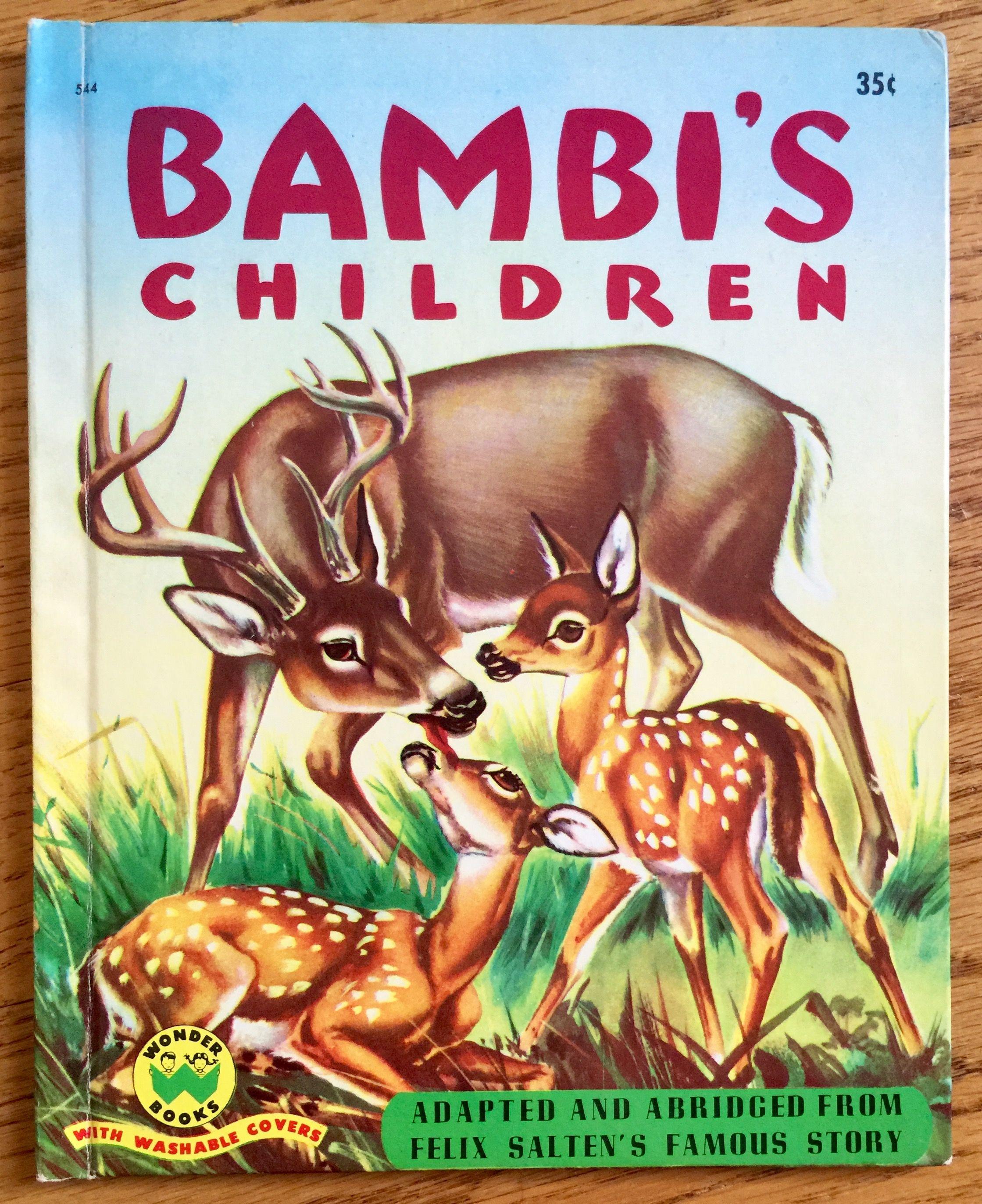 Bambi S Children By Felix Salten Hc 1951 Vgc Kids Story Books Wonder Book Children S Book Illustration