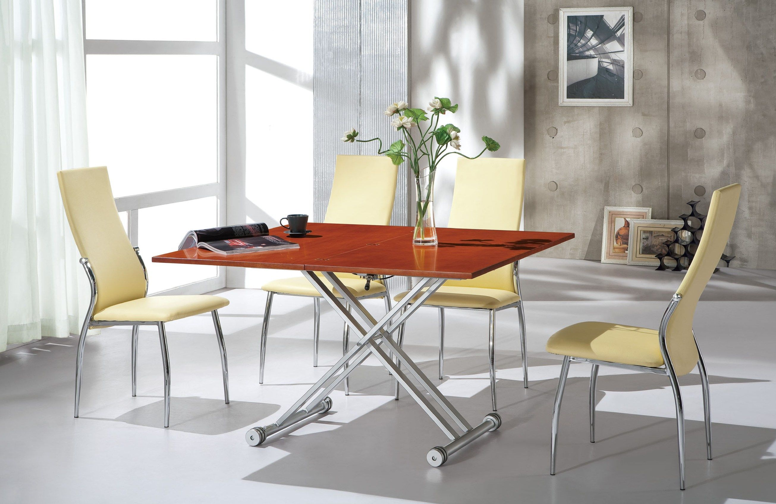 Cherry wood and grey dining google search for the home