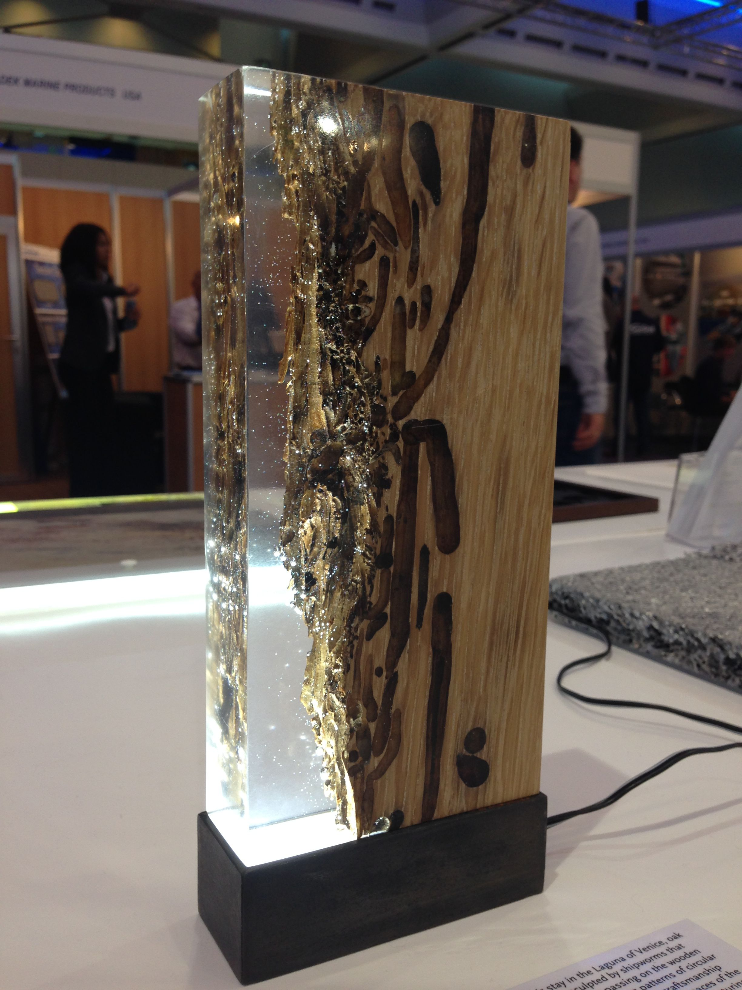 Light Made With Epoxy Resin And Wood Amazing Idea Wood