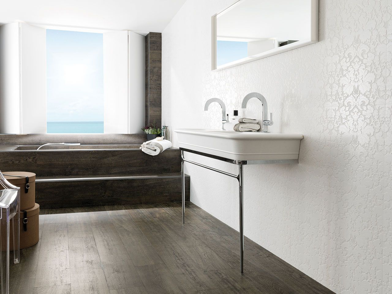 carreaux c ramiques pour les murs porcelanosa sdb b. Black Bedroom Furniture Sets. Home Design Ideas
