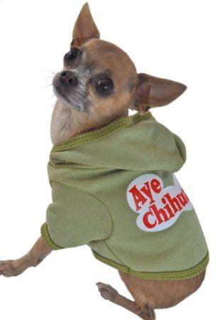 Amazon Com Ruff Ruff And Meow Dog Hoodie Aye Chihuahua Green