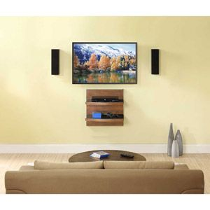 Whalen Wall Component Shelf Cherry To Sit Below Our Wall Mount Tv