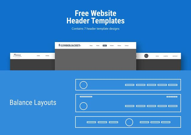 Website Header Template PSD Free Download