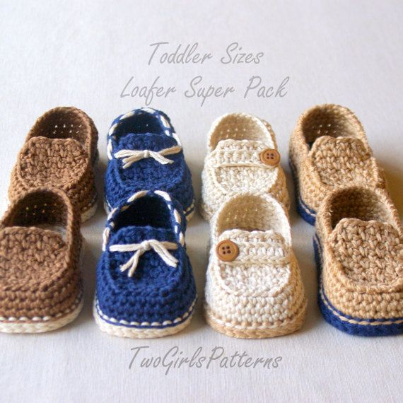 Crochet Pattern - Toddler Sizes Loafers Super Pattern Pack comes ...