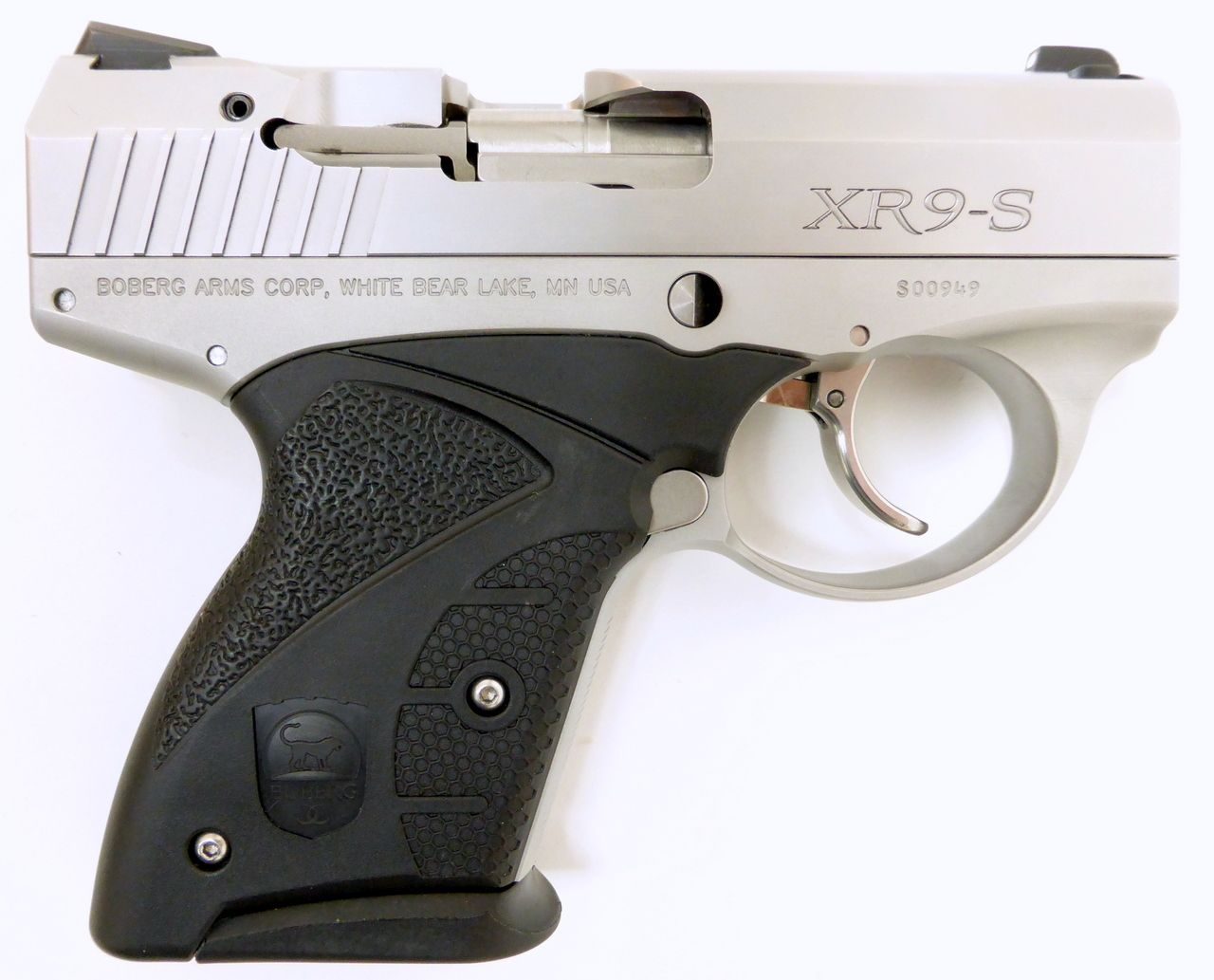 Boberg Arms Corp. XR9-S 9mm Luger caliber pistol. Custom grade Sub-Compact model .