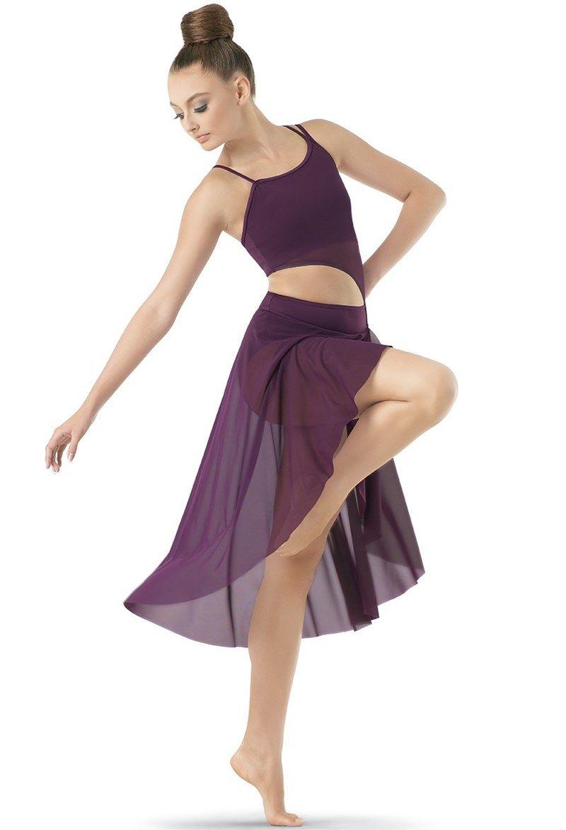 Asymmetrical Mesh Dress | Vestuarios para Danza | Pinterest ...