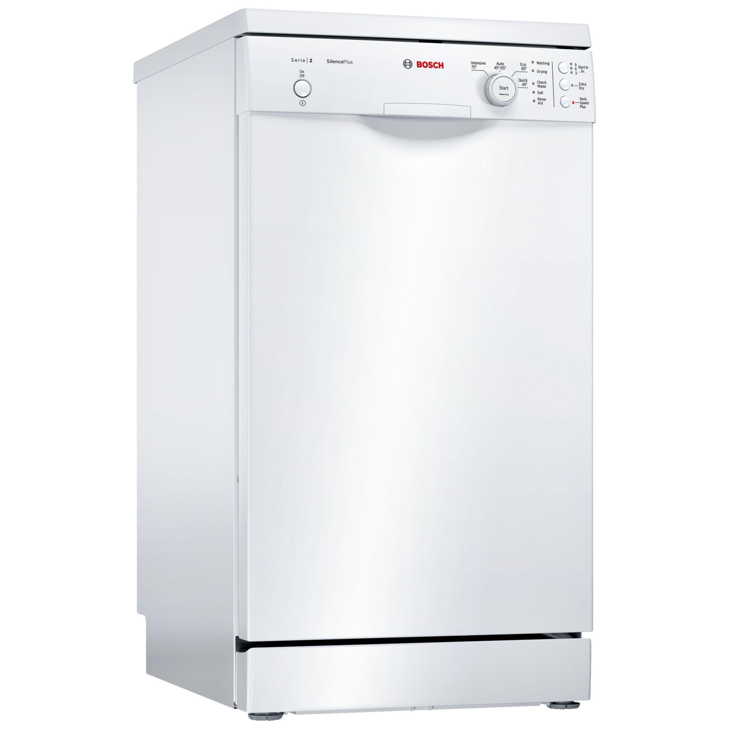 Bosch SPS24CW00G Freestanding Slimline Dishwasher, White