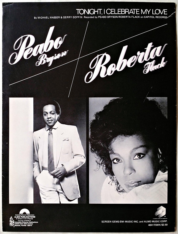 Tonight I Celebrate My Love Sheet Music Bryson Flack 1983 Piano Vocal Guitar Roberta Flack Peabo Bryson My Love