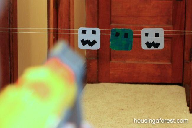 Minecraft Target Game Birthday Invitations