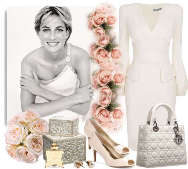 """""""Lady Dior in White"""" by sweetsuzieann ❤ liked on Polyvore"""