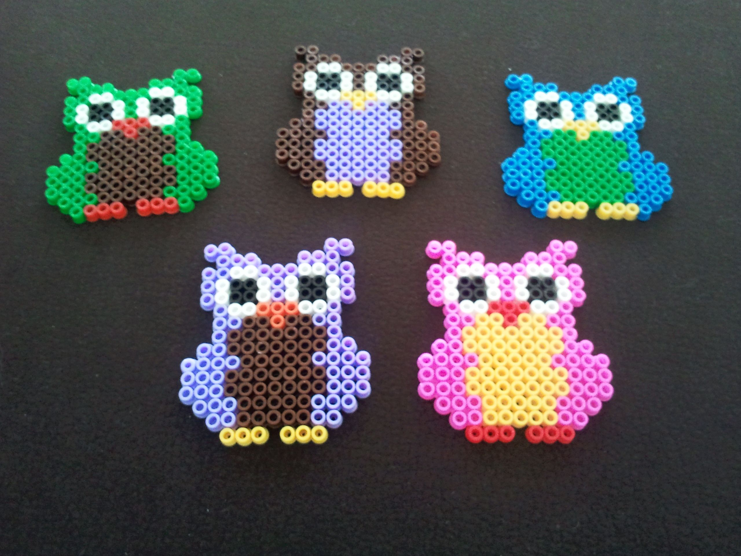 perler bead owls strijkkralen pinterest b gelperlen. Black Bedroom Furniture Sets. Home Design Ideas